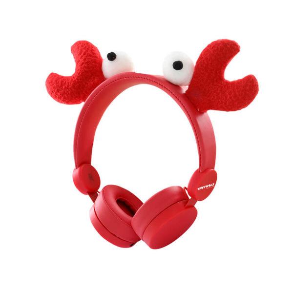 KIDYEARS Crabe, casque audio personnalisé à la forme de Crabe. Les enfants pourront écouter de la musique, ou regarder un film sur une tablette ou encore écouter leur boite à histoire Lunii ou Bookinou. Le tout en s'amusant avec les oreilles amovibles et aimantées.