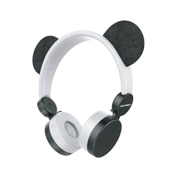 KIDYEARS Panda, casque audio personnalisé à la forme de Panda. Les enfants pourront écouter de la musique, ou regarder un film sur une tablette ou encore écouter leur boite à histoire Lunii ou Bookinou. Le tout en s'amusant avec les oreilles amovibles et aimantées.
