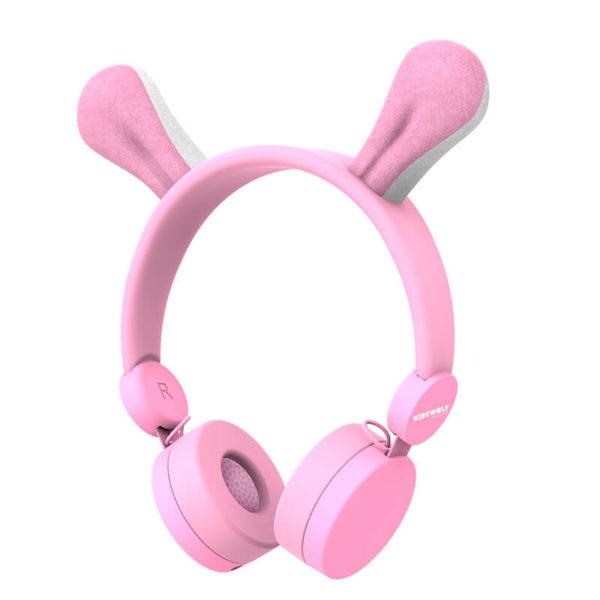 KIDYWOLF KIDYEARS Lapin Casque audio amusant pour enfants grâce aux oreilles aimantées et amovibles