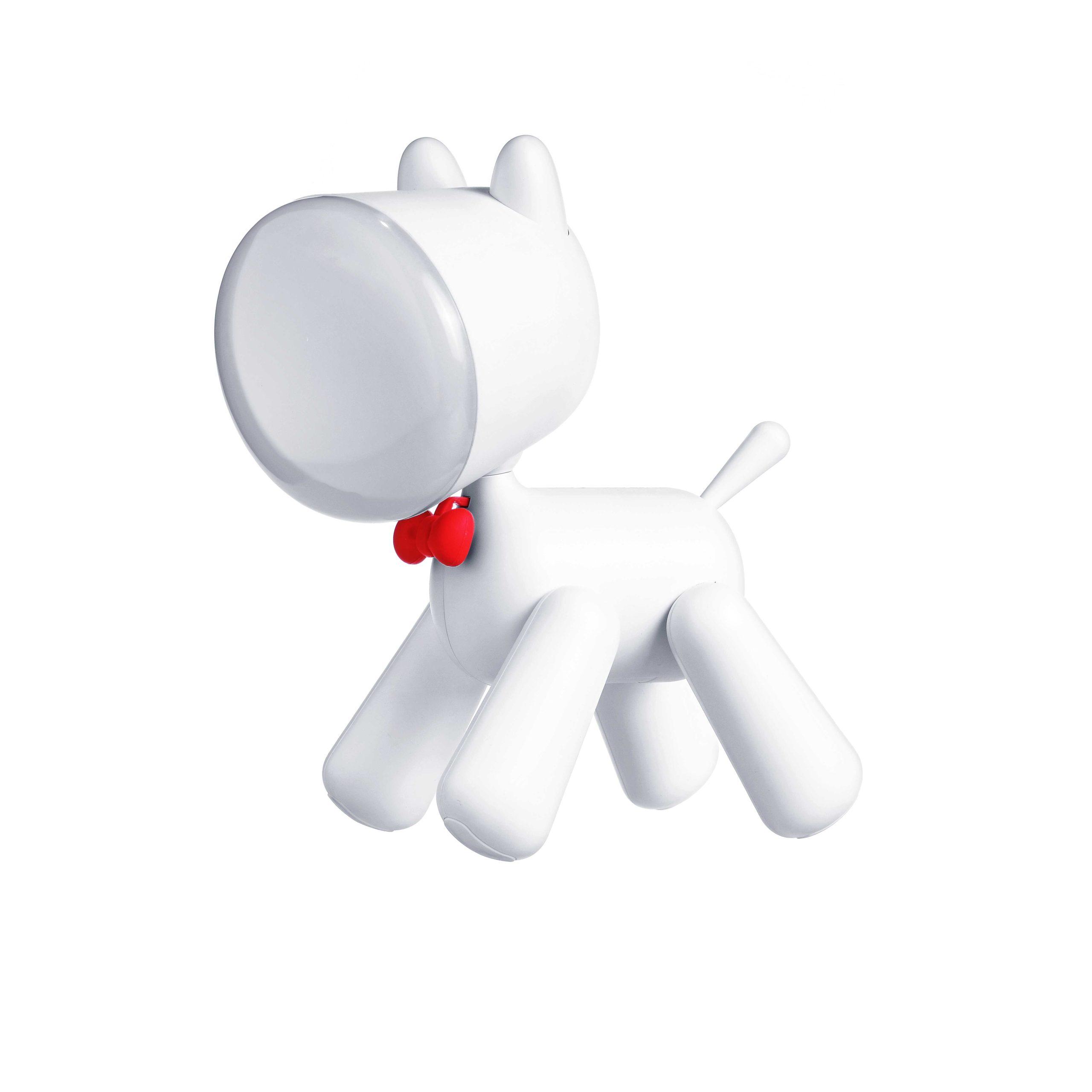 KIDYLAMP, une lampe sur batterie. Cette lampe de chevet ou de bureau, en forme de chien, séduira petits et grands par son design et ses fonctionnalités. Fonctionnant sur batterie, la KIDYLAMP accompagnera vos enfants sous leurs tipis, dans leurs cabanes confectionnées de draps et de coussins, dans leur coin lecture, ...
